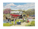 The Old Swing Bridge Giclee Print by Trevor Mitchell