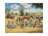 Harvest Lunch Giclee Print by Trevor Mitchell