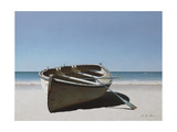 Lonely Boat on Beach Giclee Print by Zhen-Huan Lu