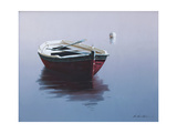 Lonely Boat in Red Giclee Print by Zhen-Huan Lu