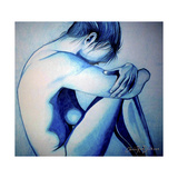 Feeling Blue Impressão giclée por Cherie Roe Dirksen