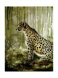 Cheetah Impressão giclée por Cherie Roe Dirksen