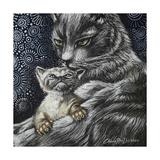 Mother Cat With Kitten Impressão giclée por Cherie Roe Dirksen