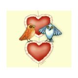 Love Birds Impressão giclée por Cherie Roe Dirksen