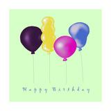 Happy Birthday Balloons Impressão giclée por Cherie Roe Dirksen