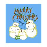 Snowmen Family Christmas Impressão giclée por Cherie Roe Dirksen