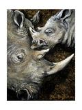 Rinocerontes Impressão giclée por Cherie Roe Dirksen