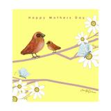 Happy Mothers Day - Mother Bird With Baby Bird Impressão giclée por Cherie Roe Dirksen