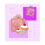 On Your Special Day - Presents And Cupcakes Impressão giclée por Cherie Roe Dirksen