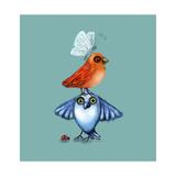 Birds Playing The Fool Impressão giclée por Cherie Roe Dirksen