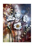 White Poppies Impressão giclée por Cherie Roe Dirksen