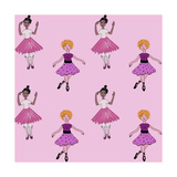 Ballerina Pattern Impressão giclée por Cherie Roe Dirksen