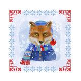 Winter Fox Giclee Print by Fiona Stokes-Gilbert