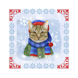 Winter Cat Giclee Print by Fiona Stokes-Gilbert