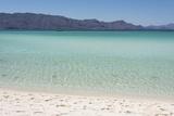Mexico, Baja California Sur, Sea of Cortez. White sand beach os Isla Coronado Premium-Fotodruck von Trish Drury