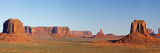 Arizona, Monument Valley, Merrick Butte, East Mitten Butte and Castle Butte Photographic Print by John & Lisa Merrill