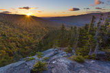 Sunset as seen from Dome Rock in New Hampshire's White Mountain National Forest. Premium Photographic Print by John & Lisa Merrill