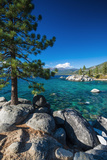 Boulders and cove at Sand Harbor State Park, Lake Tahoe, Nevada USA Reproduction photographique Premium par Russ Bishop