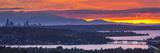 USA, Washington State. Lake Washington, Landscape over seattle at sunset Photographic Print by John & Lisa Merrill