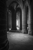 Abbey interior, Mont Saint-Michel monastery, Normandy, France Reproduction photographique Premium par Russ Bishop