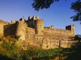 Ireland. Medieval Cahir Castle and River Suir Fotoprint van Jaynes Gallery