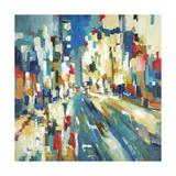Urban Beat Premium Giclee Print by Lisa Ridgers
