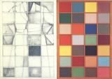 Self-Portrait Next to a Colored Window (No Border) Premium-versjoner av Jim Dine
