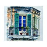 Balcony, New Orleans Reproduction procédé giclée par Anthony Butera