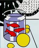 Still Life with Goldfish Bowl Premium-versjoner av Roy Lichtenstein