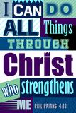 All Things Through Christ (blue) Lámina