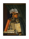 The Librarian, 1566 Reproduction procédé giclée par Giuseppe Arcimboldo