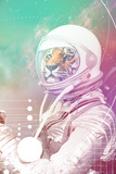 Astronaut Tiger Kunstdrucke