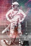 Astronaut Fox Kunstdrucke