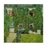 Forsthaus in Weissenbach am Attersee - Forestry house in Weissenbach on Attersee-Lake,1912 Giclée-Druck von Gustav Klimt