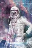 Astronaut Sloth Lámina