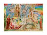 Beatrice addresses Dante from the carriage Reproduction procédé giclée par William Blake