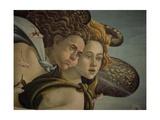 The Birth of Venus detail of the two breezes, 1478. Reproduction procédé giclée par Sandro Botticelli
