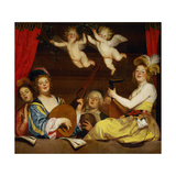 Le Concert, 1624 Giclee Print by Gerrit van Honthorst