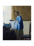 Woman Reading a Letter Giclée-Premiumdruck von Johannes Vermeer