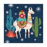 Lovely Llamas II Christmas Poster von Mary Urban