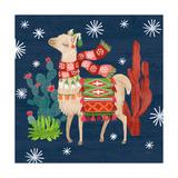 Lovely Llamas IV Christmas Poster von Mary Urban