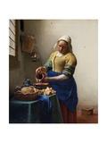 The Milkmaid Giclée-Premiumdruck von Johannes Vermeer