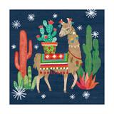 Lovely Llamas III Christmas Lámina giclée prémium por Mary Urban