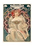 F. Champenois imprimeur Editeur Poster van Alphonse Mucha
