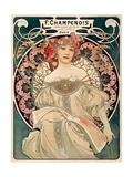 F. Champenois imprimeur Editeur ポスター : アルフォンス・ミュシャ
