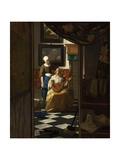 La carta de amor Láminas por Johannes Vermeer
