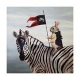 Striped Warrior Lámina giclée prémium por Lucia Heffernan