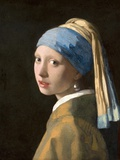 Tyttö ja helmikorvakoru Julisteet tekijänä Johannes Vermeer