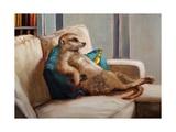 Couch Potato Lámina giclée prémium por Lucia Heffernan