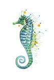 Green Seahorse Poster von Sam Nagel